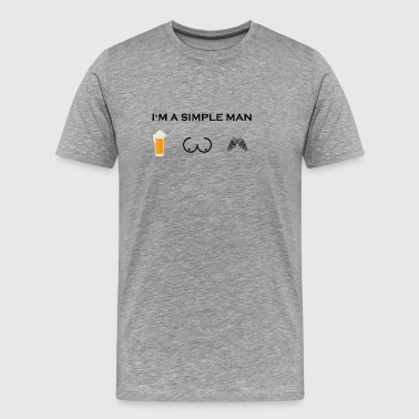 simple man boobs bier beer titten Kettensaege Chai - Männer Premium T-Shirt