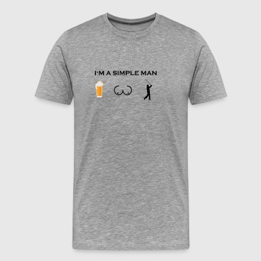 simple man boobs beer beer tits golf sports golf - Men's Premium T-Shirt
