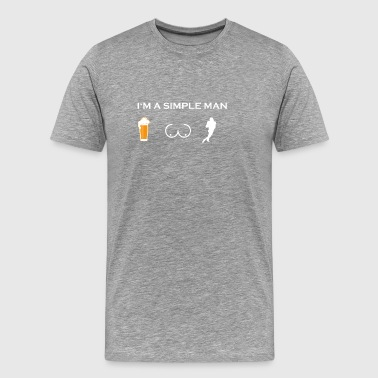 simple man like boobs beer beer tits football to - Men's Premium T-Shirt