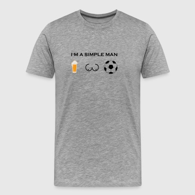 Simple man boobs beer beer tits football ultras - Men's Premium T-Shirt