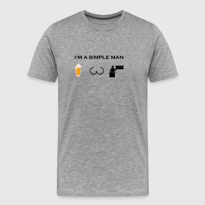 simple man boobs bier beer titten lehrer png - Männer Premium T-Shirt