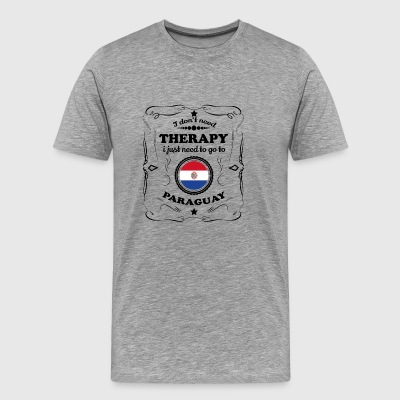DON T NEED THERAPY GO PARAGUAY - Men's Premium T-Shirt