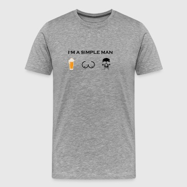 simple man boobs bier beer titten skull totenkopf - Männer Premium T-Shirt