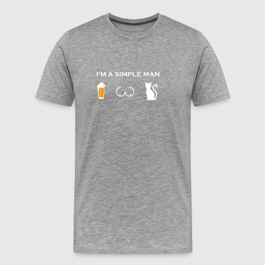 simple man like boobs bier beer titten katze png - Männer Premium T-Shirt