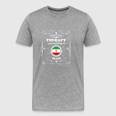 DON T NEED THERAPIE WANT GO IRAN - Männer Premium T-Shirt