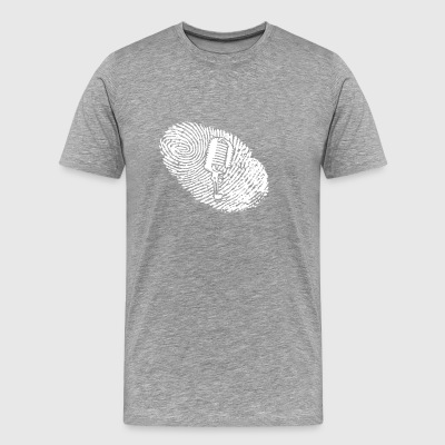 fingerprint dna dns gift MICROPHONE MICROPHONE M - Men's Premium T-Shirt