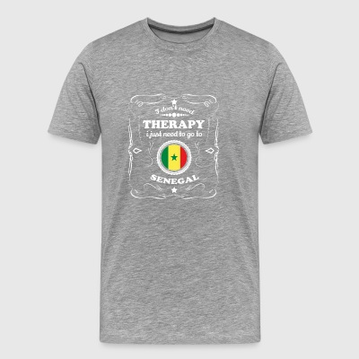 DON T NEED THERAPIE WANT GO SENEGAL - Männer Premium T-Shirt