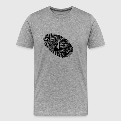 fingerprint dns dna gift selgel sailboat - Men's Premium T-Shirt