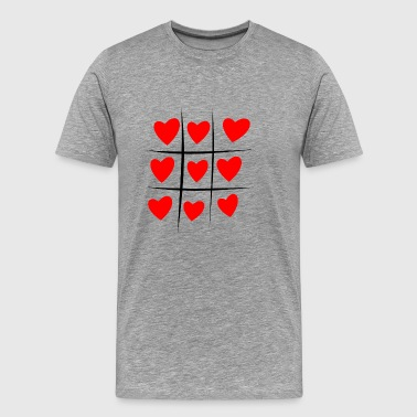 tictactoe heart - Men's Premium T-Shirt