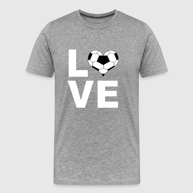 Football Love Soccer Love T-Shirt Gift - Men's Premium T-Shirt