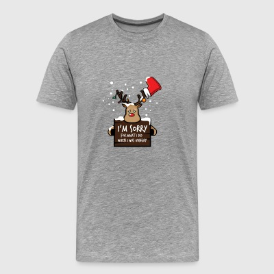Sorry I was very hungry hungry Christmas - Men's Premium T-Shirt