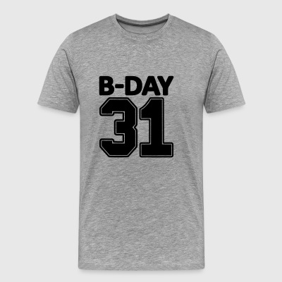 31st birthday bday 31 number numbers jersey number - Men's Premium T-Shirt