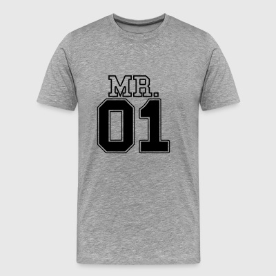 MR. 01 Monsieur et Madame paire JGA PartnerLook Partie 1 - T-shirt Premium Homme