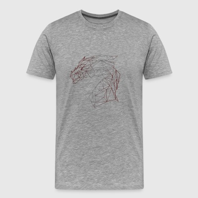 DRAGON POLYGON - Herre premium T-shirt