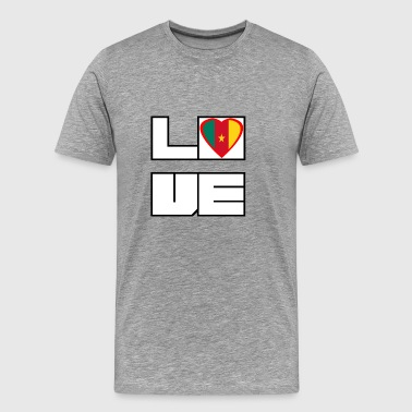 Love Land Roots Kamerun - Männer Premium T-Shirt