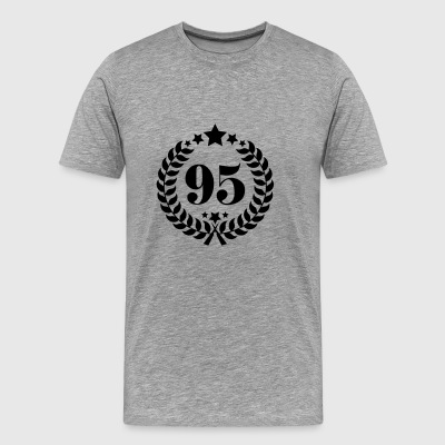 95th Birthday Wreath - Anniversary Wreath - Men's Premium T-Shirt