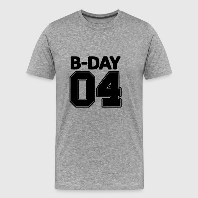 4th birthday Bday 04 number number fourth - Men's Premium T-Shirt