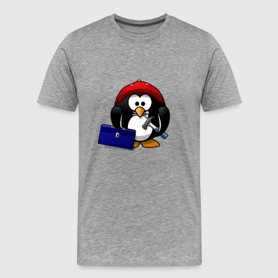 Craftsman penguin - Men's Premium T-Shirt