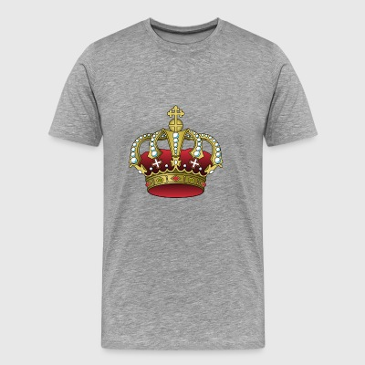 crown crown koenig king castle castle tower burg2 - Men's Premium T-Shirt