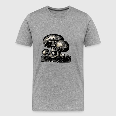mushrooms mushrooms fungi veggie vegetables vegetables77 - Men's Premium T-Shirt