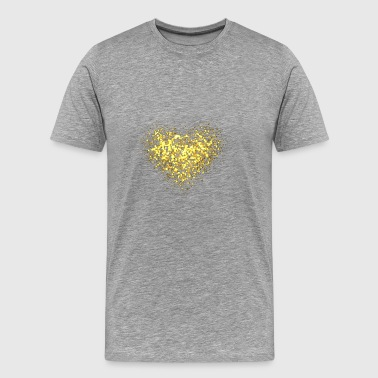 Glitter Heart Gold - Men's Premium T-Shirt