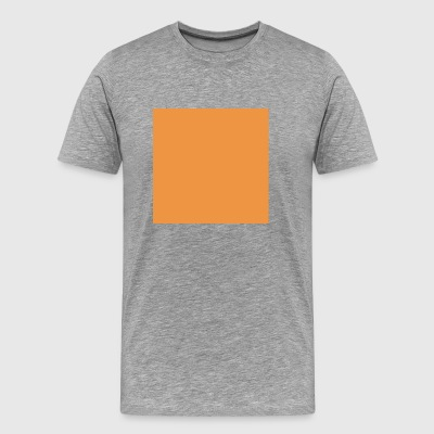 orange Square - Premium T-skjorte for menn