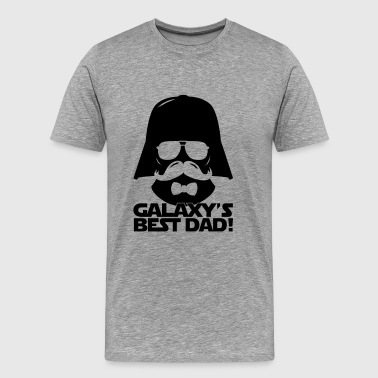Funny Best Dad of the Galaxy statement - Men's Premium T-Shirt