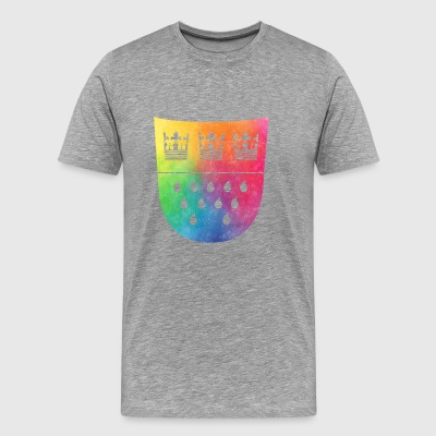 Våben for Köln Rainbow - Herre premium T-shirt