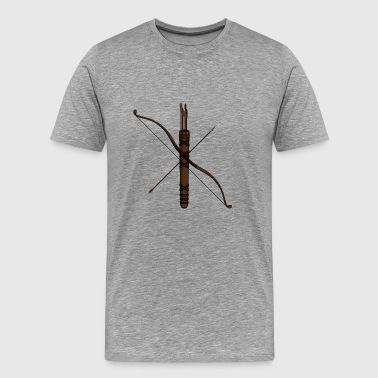 archery arrow bow crossbow target sports6 - Männer Premium T-Shirt