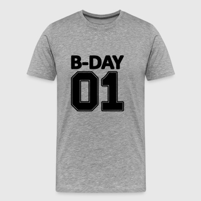 1st Birthday Bday 1 Number Number One - Men's Premium T-Shirt