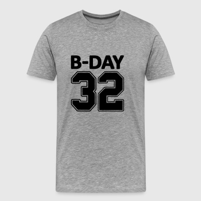 32nd Birthday Bday 32 Number Numbers Number Gift - Men's Premium T-Shirt