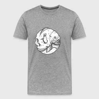Skull fish - Men's Premium T-Shirt
