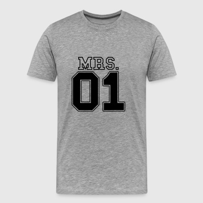 MRS. 01 Mr & Mrs Paar JGA Partnerlook Teil 2 Paar - Männer Premium T-Shirt
