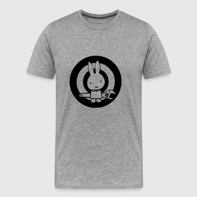 Rabbit Car - Premium-T-shirt herr