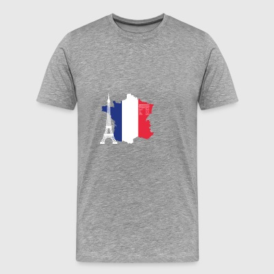 France with Eiffel Tower - Men's Premium T-Shirt