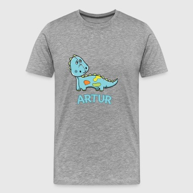 Dinosaur funny child Artur gift birthday - Men's Premium T-Shirt