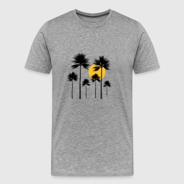 Palm trees, sun, summer and holidays in the South Seas - Men's Premium T-Shirt
