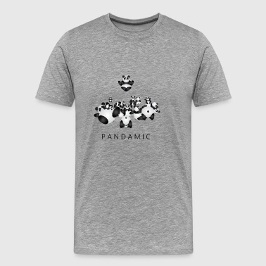 Pandamic - Premium-T-shirt herr
