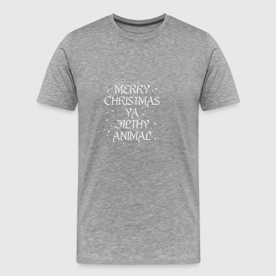 Filthy Animal Christmas Gift - Idea Merry X - Men's Premium T-Shirt