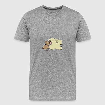 Sleepy Mouse - Premium T-skjorte for menn
