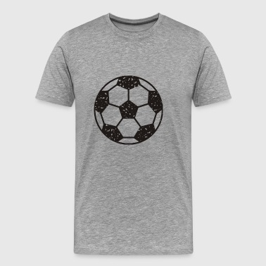 Football vintage black - Men's Premium T-Shirt