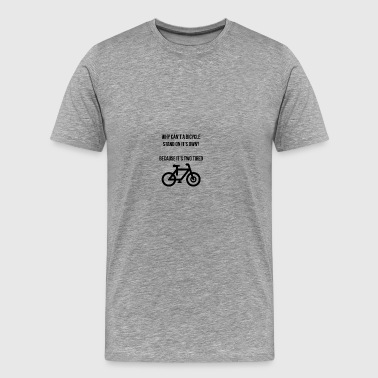 A bicycle stand on it's own - Männer Premium T-Shirt