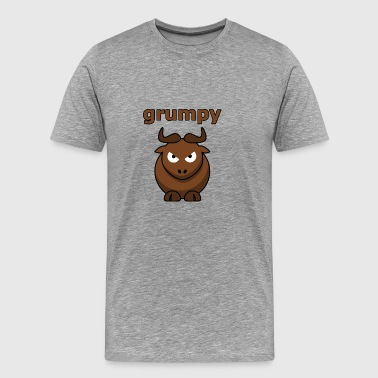 Grumpy - annoying goat - gift idea - Men's Premium T-Shirt