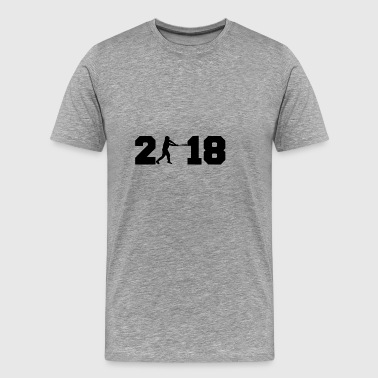 Gift 2018 New Year honkbal homerun basis 2 - Mannen Premium T-shirt