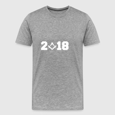 Gift 2018 New Year architect Zimmermann - Men's Premium T-Shirt