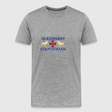 Queensbay Equestrian logo - Men's Premium T-Shirt