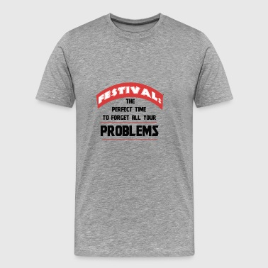 Fesitval Celebrate Music Rave Techno House Bass - Men's Premium T-Shirt
