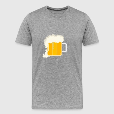 Beer Stein Schaumkrone - Men's Premium T-Shirt