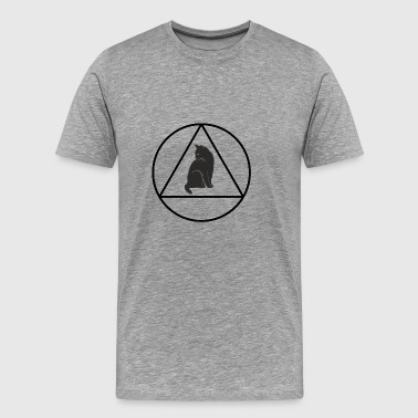 Triangle Cat Hipster - T-shirt Premium Homme