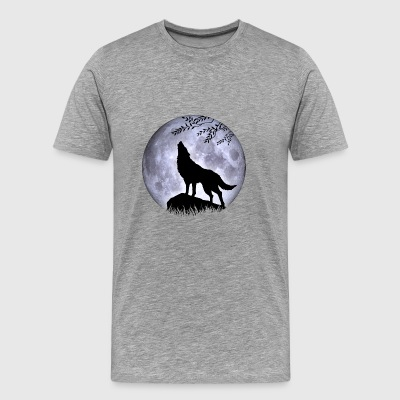 Loup Pleine Lune Halloween Night Nightmare Nightmare - T-shirt Premium Homme
